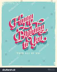 vintage style birthday card happy birthday stock vector 324049352
