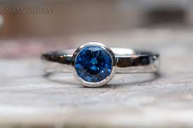 simple sapphire engagement rings sapphire engagement rings made by sam abbay s customers