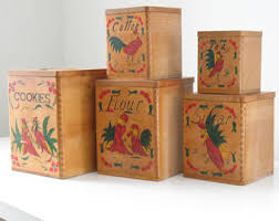 wooden kitchen canisters wooden canisters etsy