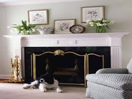mantel fireplace mantel decor with small birdcage and mirror for