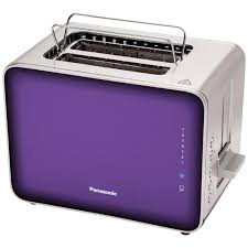 designer toaster panasonic nt zp1v breakfast collection 2 slice toaster