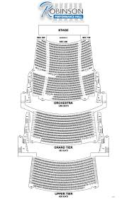 seating chart robinson center u0027s second act