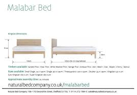 Super King Size Bed Dimensions Malabar Contemporary Wooden Bed Natural Bed Company