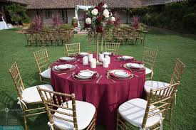 Round Elastic Tablecloth Spun Poly Burgundy 132