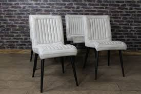 white leather chairs the epsom for retro chair nailhead dining