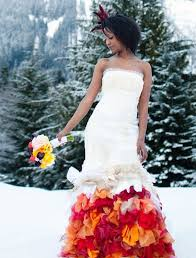 winter wedding dress 50 colorful wedding dresses non traditional brides will