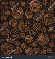 merry christmas balls doodle patterns icons stock vector 348853817