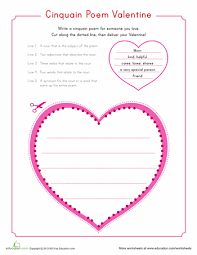 valentine cinquain diy valentine u0027s day valentines and printable