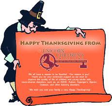 unicorn children s foundation happy thanksgiving from unicorn