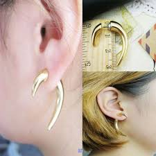 sharp earrings retro rivet spike ear stud ox horn earrings sharp corner tooth