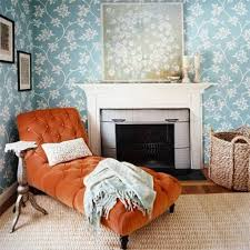 cozy bedroom ideas orange tufted chaise lounge chair with sisal rug for cozy bedroom