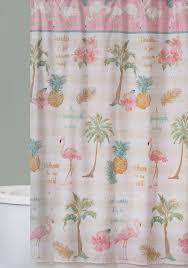 Flamingo Shower Curtains Saturday Knight Flamingo Shower Curtain Belk