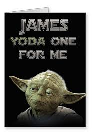 wars valentines day personalised wars s day card yoda one for me