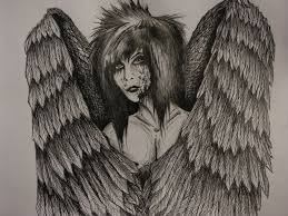 pencil sketches angels and demons drawing art u0026 skethes