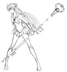 sailor pluto sketch by raihayangu on deviantart
