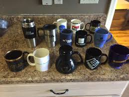 my friend collects the mugs from famous american business failures
