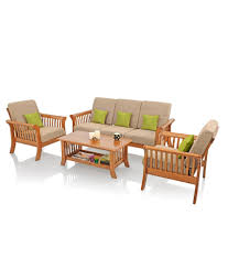Sofa Set Images With Price Royaloak Vita Sofa Set With Beige Cushions Solid Wood Buy