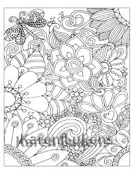 dragonfly flowers 1 coloring book page printable instant