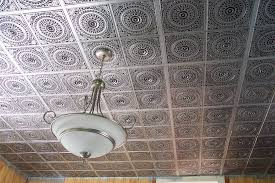 Faux Tin Ceiling Tiles Drop In by Drop In Ceiling Tiles Brushed Nickel More Images Could B U2026 Flickr