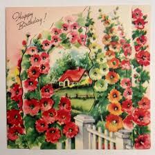 beautiful flowers arch perk thru house 1940s vintage birthday