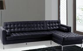 Black Microfiber Sectional Sofa With Chaise Sofa Magnificent Frankfort Black Convertible Sectional Sofa Bed