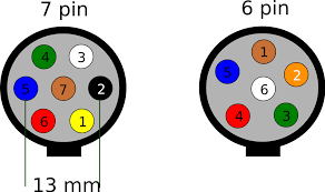trailer wiring diagram for 4 way 5 6 way and 7 circuits within