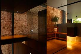alluring bricks wall interior design ideas with red color and