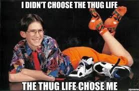 Wannabe Gangster Meme - 20 best i didn t choose the thug life memes smosh
