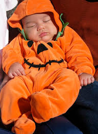 Baby Halloween Pumpkin - homemade halloween costumes a family history