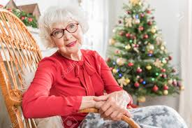 what to get an elderly woman for christmas great mood portrait of charming elderly woman is sitting in