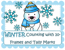 winter counting with 10 frames and tally marks
