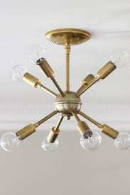 Chandelier Light Fixtures by Bedroom Impressive Diy Sputnik Light Fixture Mid Century Brass
