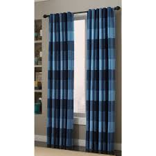 Green Checkered Curtains Shop Allen Roth Emilia 84 In Blue Polyester Back Tab Light
