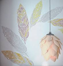 decorative feather stencil for walls large feather wall stencil