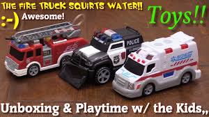 police car toy toy cars and trucks for young kids fire truck ambulance and
