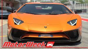 lamborghini aventador front motorweek first look lamborghini aventador sv youtube