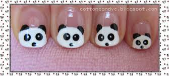 cotton candy blog cute and easy panda nail art tutorial for