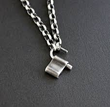 mens chain necklace silver images Men 39 s lock pendant oxidized silver chain necklace lynn todd designs jpg