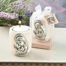 baptism ornament favors 12 madonna and child tealight candle holders christening baptism