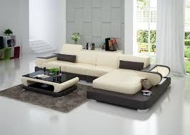 canapé d angle cuir beige canapé d angle avec éclairage en cuir pas cher