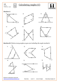 finding missing angles in triangles worksheet angles problem solving worksheets mediafoxstudio