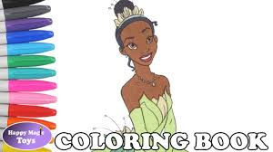 disney princess tiana coloring book pages princess