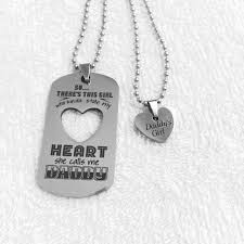 girl heart necklace images Daddy 39 s girl necklace set stainless steel dads are awesome jpg