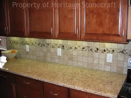 Kitchen Sink With Backsplash Bathroom Giallo Ornamental Granite With Merola Tile Backsplash