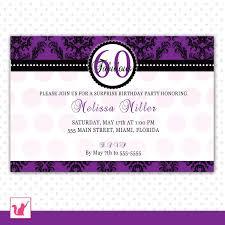 sample invitation for 60th birthday party gallery invitation