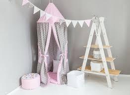 hängezelt kinderzimmer baby bettwäsche hängezelt spielzelt rosa weiße sterne auf grau