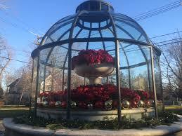 a festive fountain in ridgefield