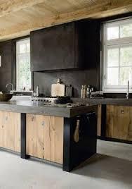 a dark and handsome kitchen neutral kitchen walnut cabinets and