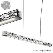 flos long and hard suspension light linear lighting stardust