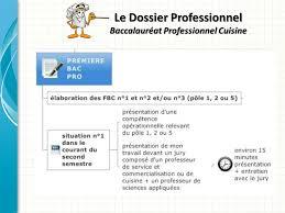 sujet bac pro cuisine le dossier professionnel baccalauréat professionnel cuisine ppt